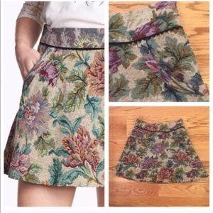 Free People Floral Travelers Print Skirt